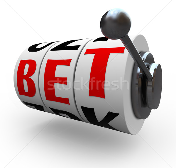 Bet Words on Slot Machine Wheels - Gambling Stock photo © iqoncept