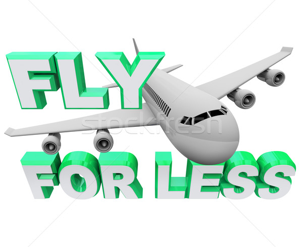 Fly for Less - Save When Booking Air Flight Travel Stock photo © iqoncept