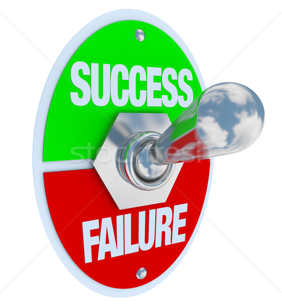 Success vs Failure - Toggle Switch Stock photo © iqoncept