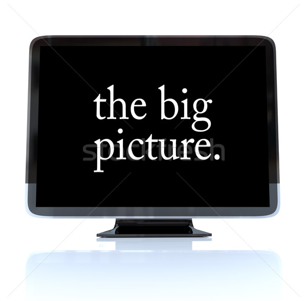 ビッグ 画像 高解像度 テレビ hdtv 単語 ストックフォト © iqoncept
