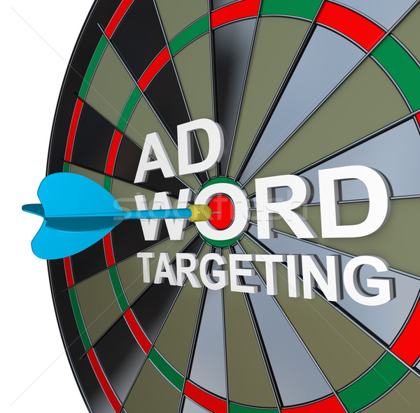 Ad Targeting Word on Dartboard Dart Words Stock photo © iqoncept