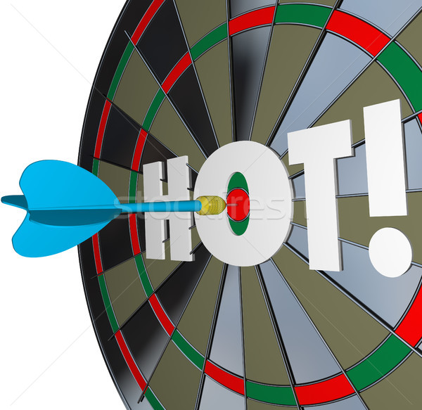 Stock photo: Hot Dart Popular Great Performance Dartboard