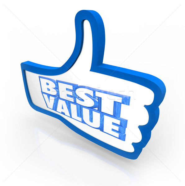 Best Value Thumb's Up Top Rating Score Quality Stock photo © iqoncept