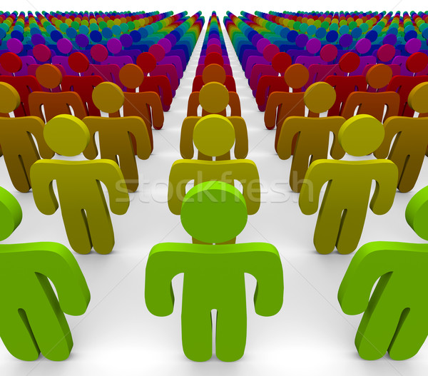 Rainbow Colors - Diverse Group of People Stock photo © iqoncept