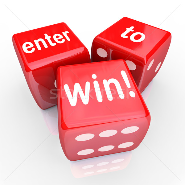 Enter To Win 3 Red Dice Contest Winning Entry  Stock photo © iqoncept