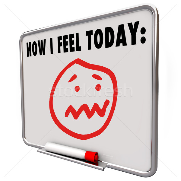 How I Feel Today Stressed Overworked Frustrated Sad Face Stock photo © iqoncept