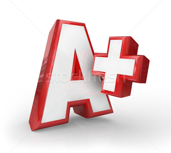 A+ Plus Great Grade Score Feedback Top Rating Stock photo © iqoncept