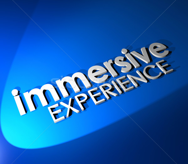 Immersive Experience 3d Blue Words Total Involvement Background Stock photo © iqoncept
