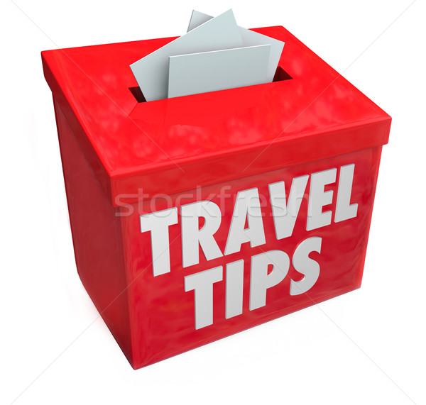 Travel Tips Suggestion Box Feedback Reviews Advice Information Stock photo © iqoncept