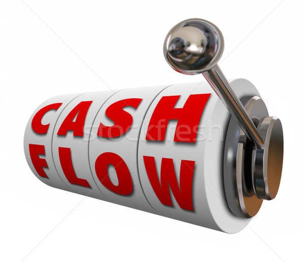 Stock photo: Cash Flow Slot Machine Wheels Increase Income Revenue Money