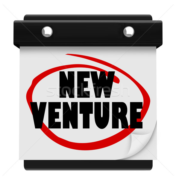 New Venture Wall Calendar Launch Reminder Business Startup Stock photo © iqoncept