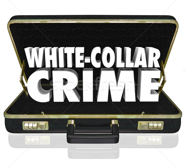 White Collar Crime 3d Words Briefcase Embezzle Fraud Theft Stock photo © iqoncept