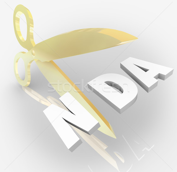 NDA Non Disclosure Agreement Scissors Cutting Letters Acronym Stock photo © iqoncept