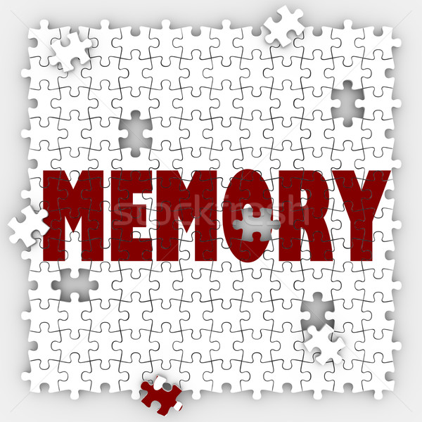 Memory Word Losing Ability Remember Past Events Memorize Mind Re Stock photo © iqoncept