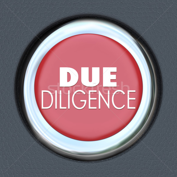 Due Diligence Car Start Button Research Company Merger Acquisiti Stock photo © iqoncept