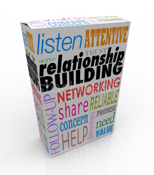 Relationship Building Product Box Advice Networking Grow Your Bu Stock photo © iqoncept