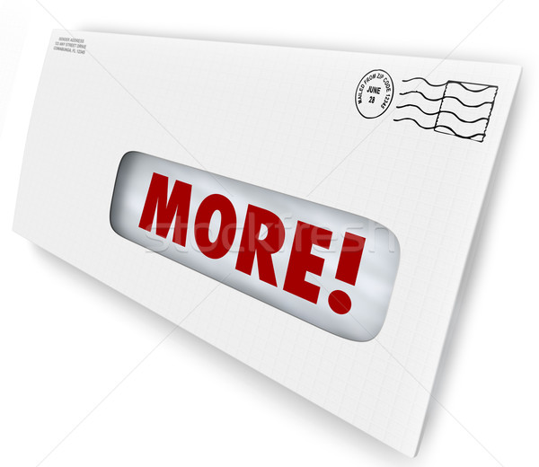 More Word Envelope Increase Improve Results Marketing Mailing Stock photo © iqoncept