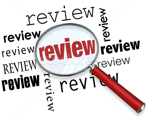 Review Magnifying Glass Words Reccommendations Looking for Feedb Stock photo © iqoncept