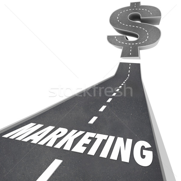 Marketing Road Up to Increased Growth Earnings Business Expansio Stock photo © iqoncept