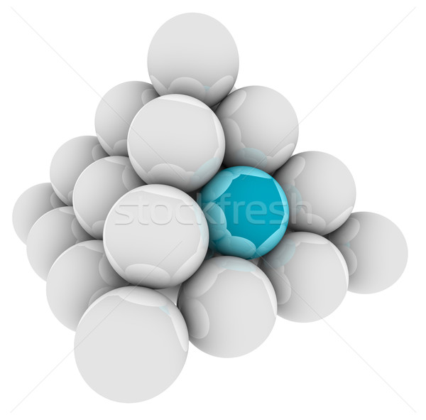 Blue Ball Unique Different Special Pyramid Standing Out Stock photo © iqoncept