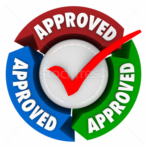 Approved Check Mark Arrows Process Rating Evaluation Stock photo © iqoncept