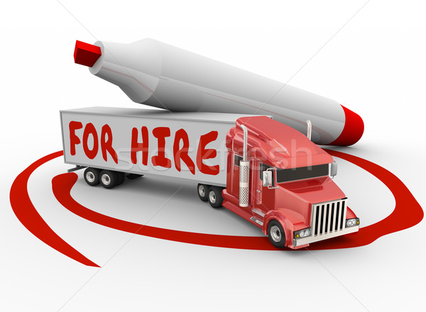 Fire Hire Truck Independent Driver Owner Operator Stock photo © iqoncept
