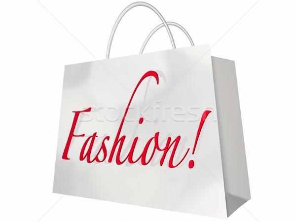 Fashion Word Shopping Bag Style Store Sale Stock photo © iqoncept