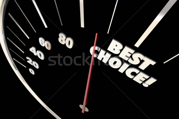 Best Choice Better Option Decision Words Speedometer 3d Illustra Stock photo © iqoncept