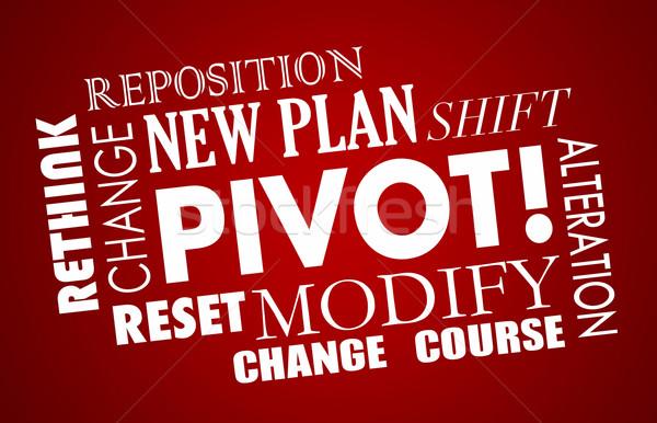 Pivot Change Course New Business Model Words 3d Illustration Stock photo © iqoncept