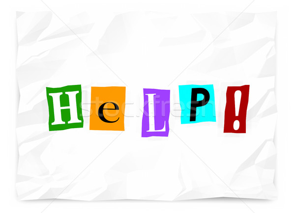 Helpen nota oproep bericht nood 3d illustration Stockfoto © iqoncept
