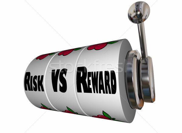 Risk Vs Reward Slot Machine Wheels 3d Illustration Stock photo © iqoncept