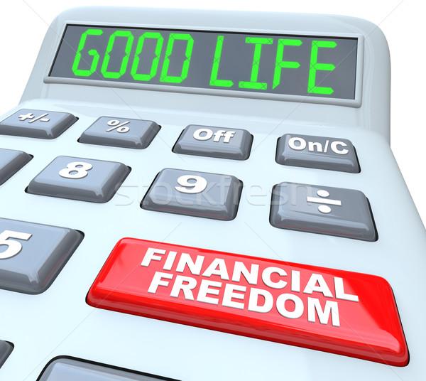 финансовых свободу good life слов калькулятор цифровой Сток-фото © iqoncept