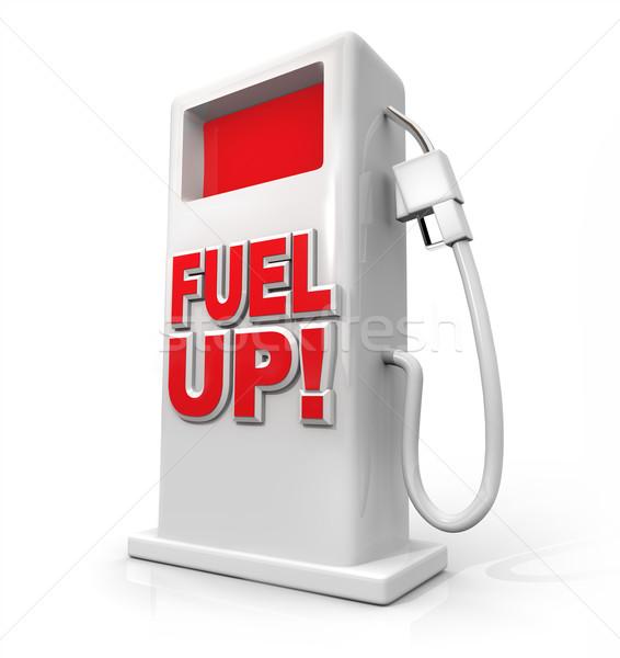 üzemanyag felfelé gázolaj pumpa megtankol fehér Stock fotó © iqoncept