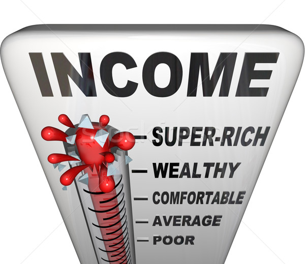 Income Thermometer Promotion Raise Wealthy Earn Money Stock photo © iqoncept