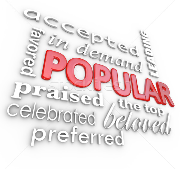 Popular Word Best In Demand Favorite Background Stock photo © iqoncept