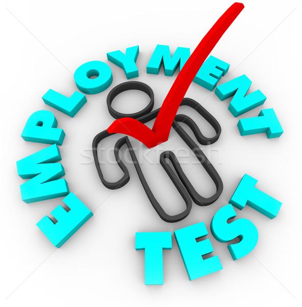 Iş test kontrol kutu kırmızı Stok fotoğraf © iqoncept