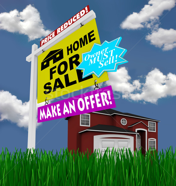 Home for Sale Sign - Desperate to Sell House Stock photo © iqoncept