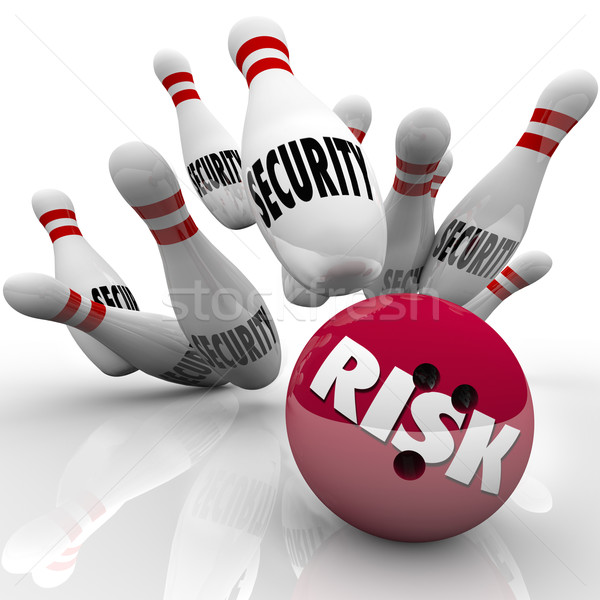 Security Pins Risk Bowling Ball Danger Risking Safety Stock photo © iqoncept