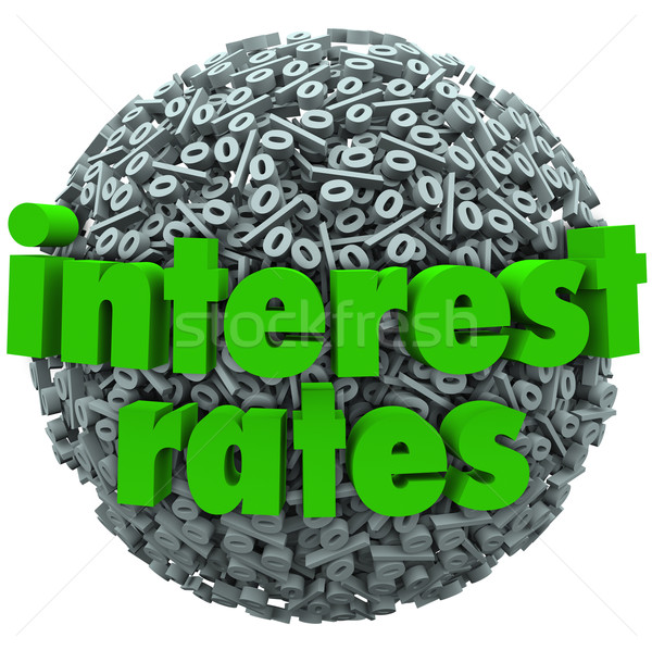 Interest Rates Percent Sign Symbol Sphere Mortgage Loan Stock photo © iqoncept