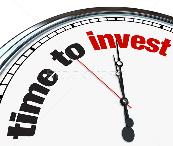 Time to Invest - Clock Stock photo © iqoncept