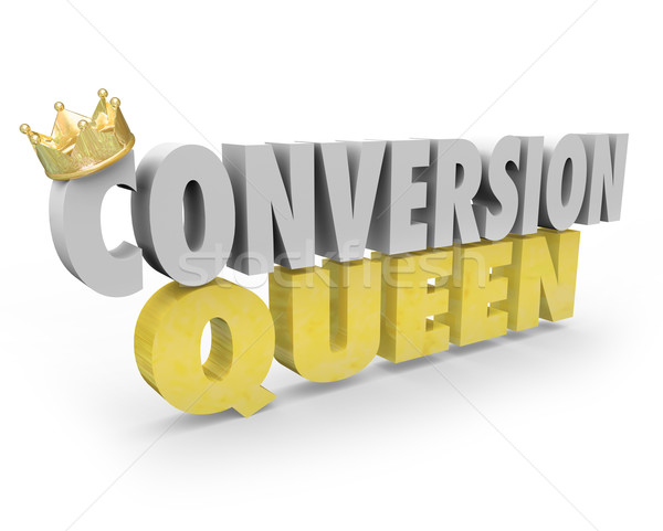 Conversion Queen Top Sales Person Woman Selling Expert Advice Stock photo © iqoncept