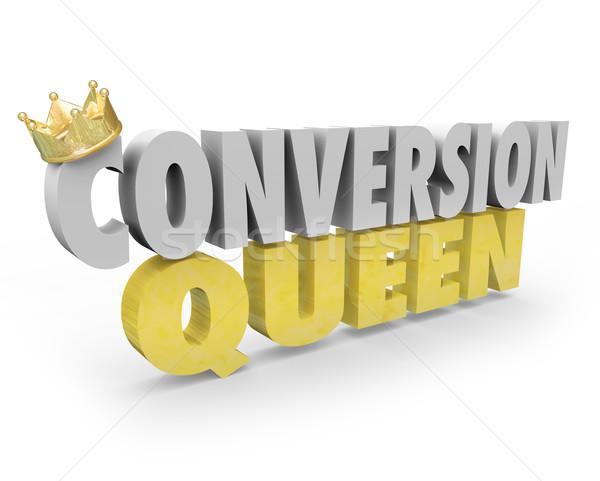 Királynő felső eladó személy nő elad Stock fotó © iqoncept