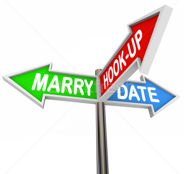 Marry Date Hook Up One Night Stand Dating Choice Signs Stock photo © iqoncept
