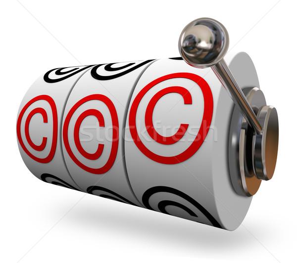 Telif hakkı simge sözler üç harfler Stok fotoğraf © iqoncept