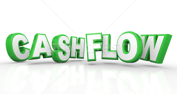 Cashflow 3d Words Income Revenue Stream Money Earnings Stock photo © iqoncept