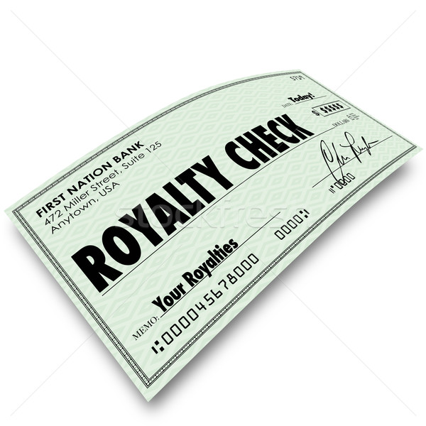 Royalty Check Commission Income Percentage Revenue Sales Stock photo © iqoncept