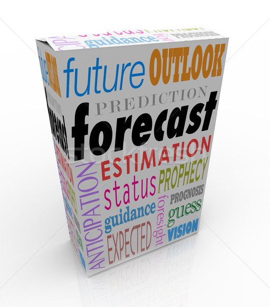 Forecast Outlook Prediction Words 3d Box Future Prognosis Stock photo © iqoncept