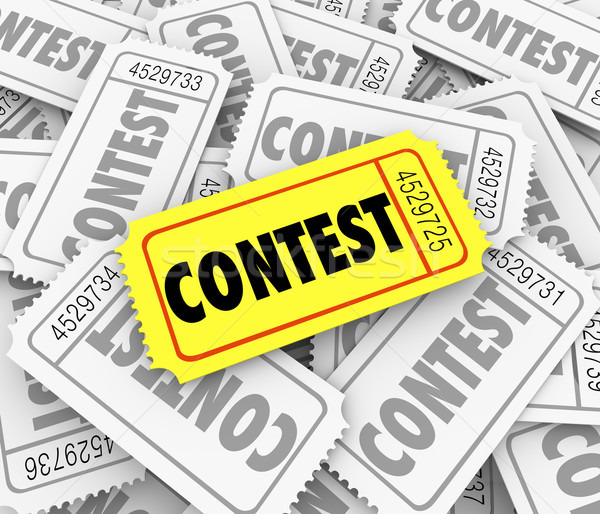 Contest Word Ticket Pile Win Raffle Fund Raiser Prize Drawing Stock photo © iqoncept