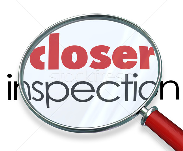 Closer Inspection Magnifying Glass Research Looking Into Facts Stock photo © iqoncept