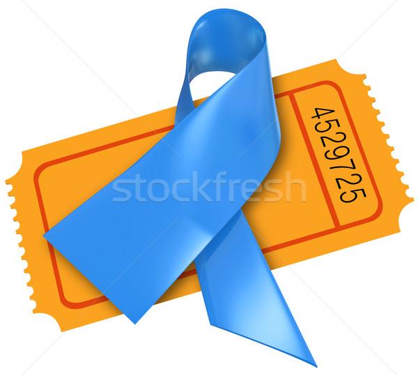 Bleu dépendance cancer maladie ruban fonds Photo stock © iqoncept